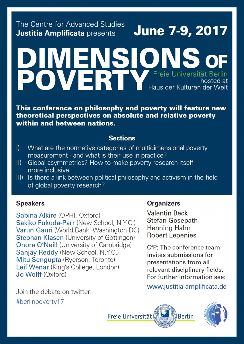 "Konferenz: ""Dimensions of Poverty"""
