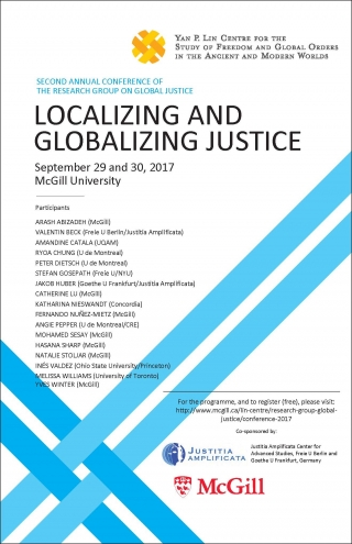 "Konferenz: ""Localizing and Globalizing Justice"""